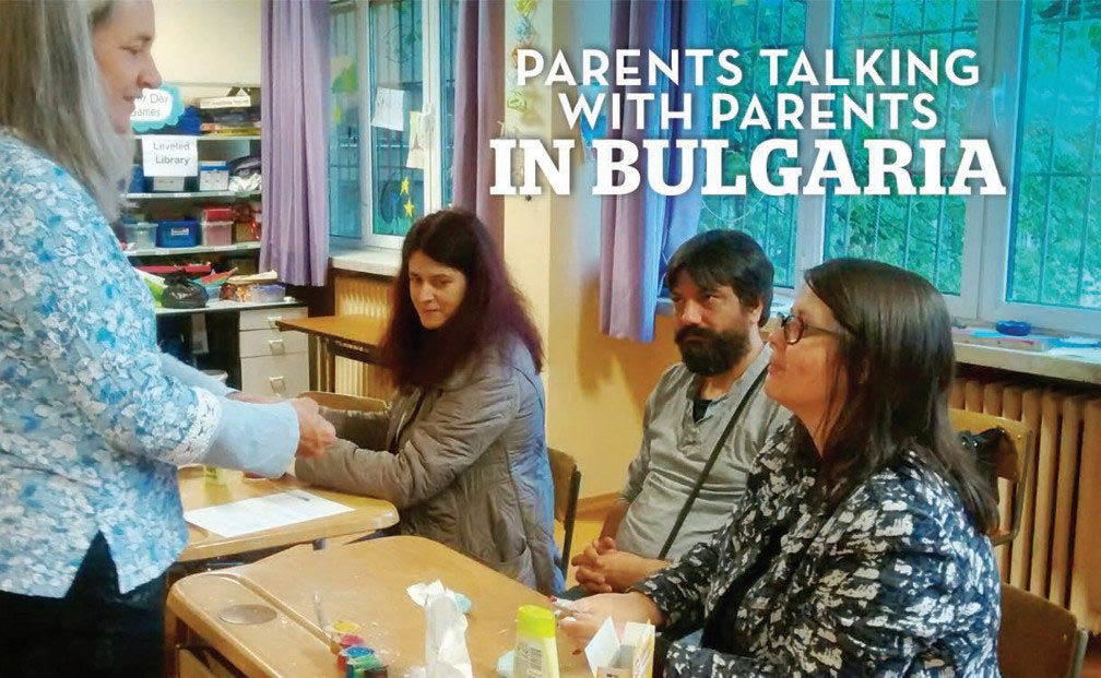 Parent talking with parents in Bulgaria