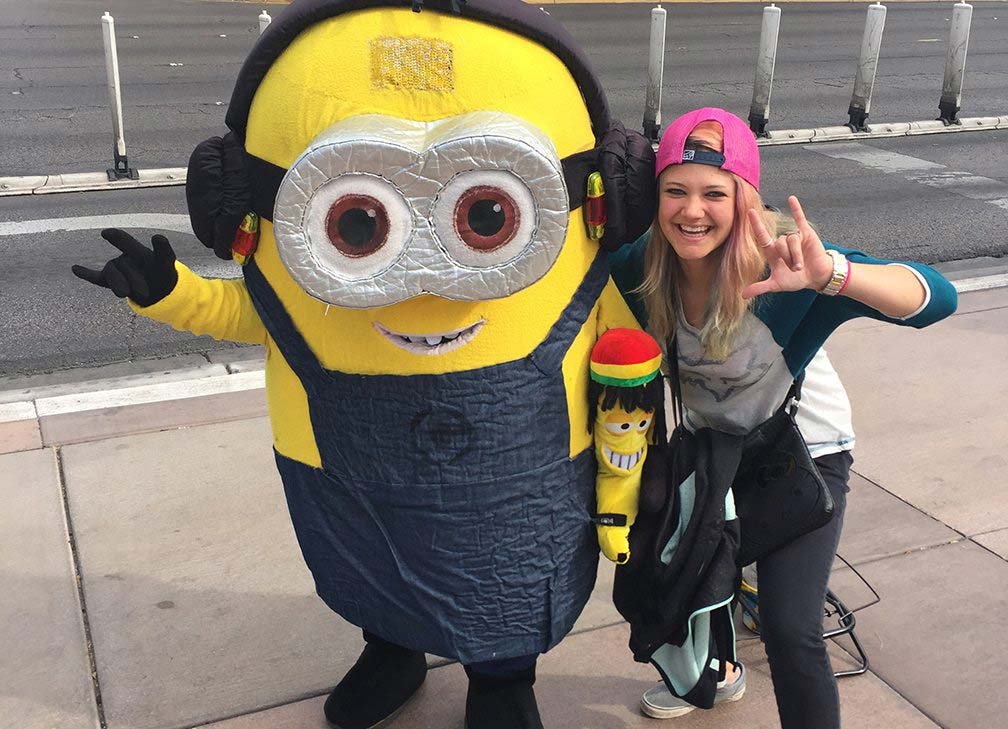 Ashley and a Minion