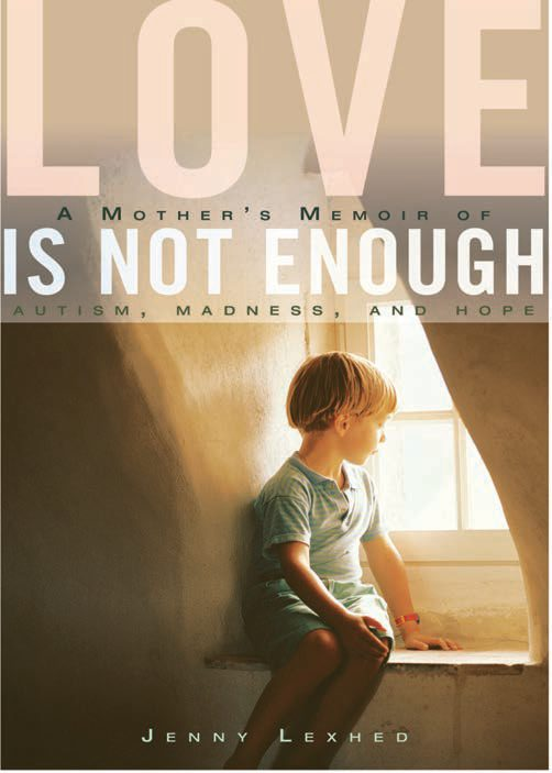 """Cover image of the Book """"Love is not Enough"""" with image of a young boy peering out of a dormer window"""