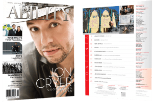 Jon Cryer Issue Cover and Table of Contents