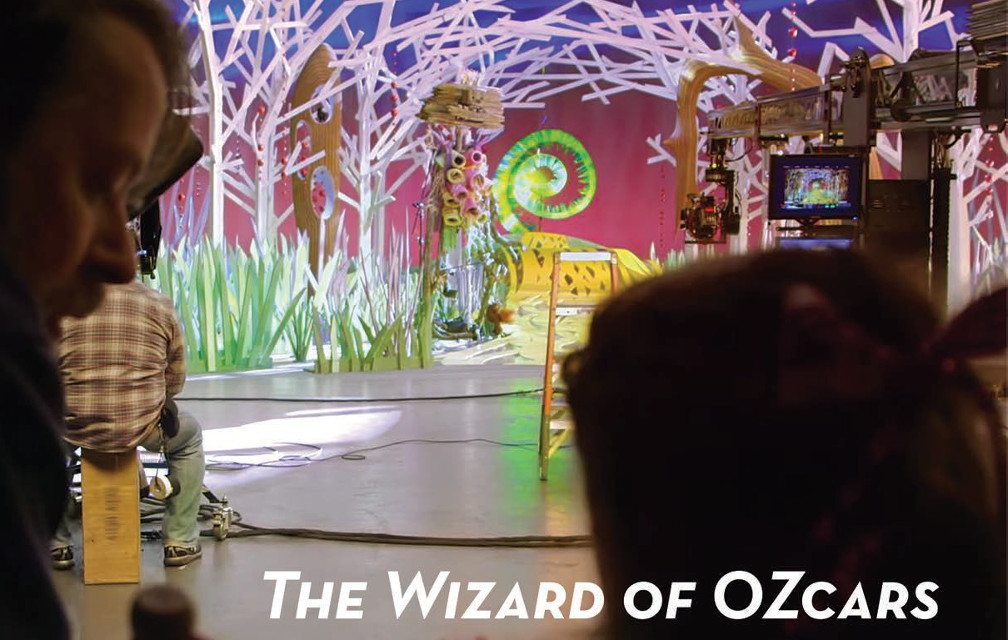 The set of a TV scene of Wizard of Oz.