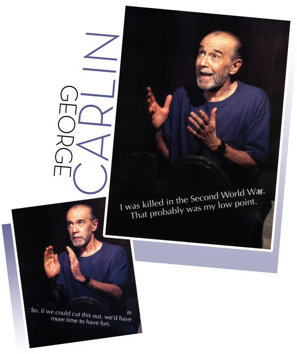 George Carlin in gesturing.