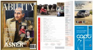 Ed Asner Issue cover and Table of Contents