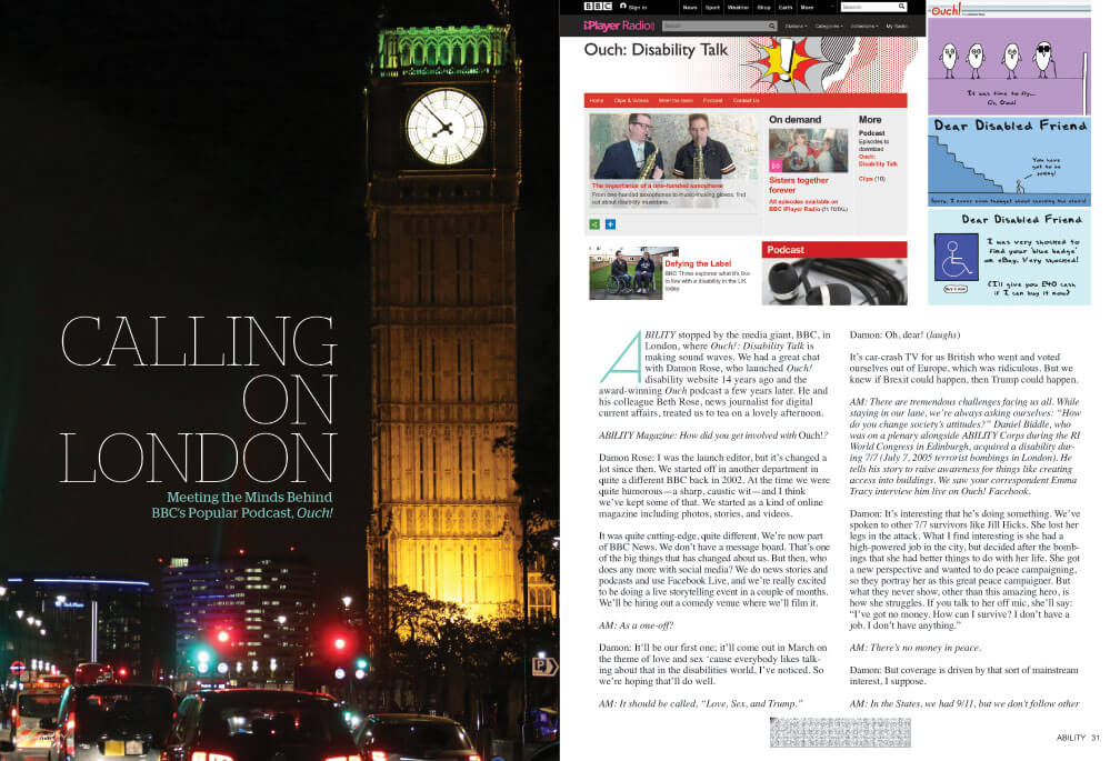 """Calling on London: Meeting the Minds Behind BBC's Popular Podcast """"Ouch!"""" Image of busy London Street with Big Ben clock tower in background."""