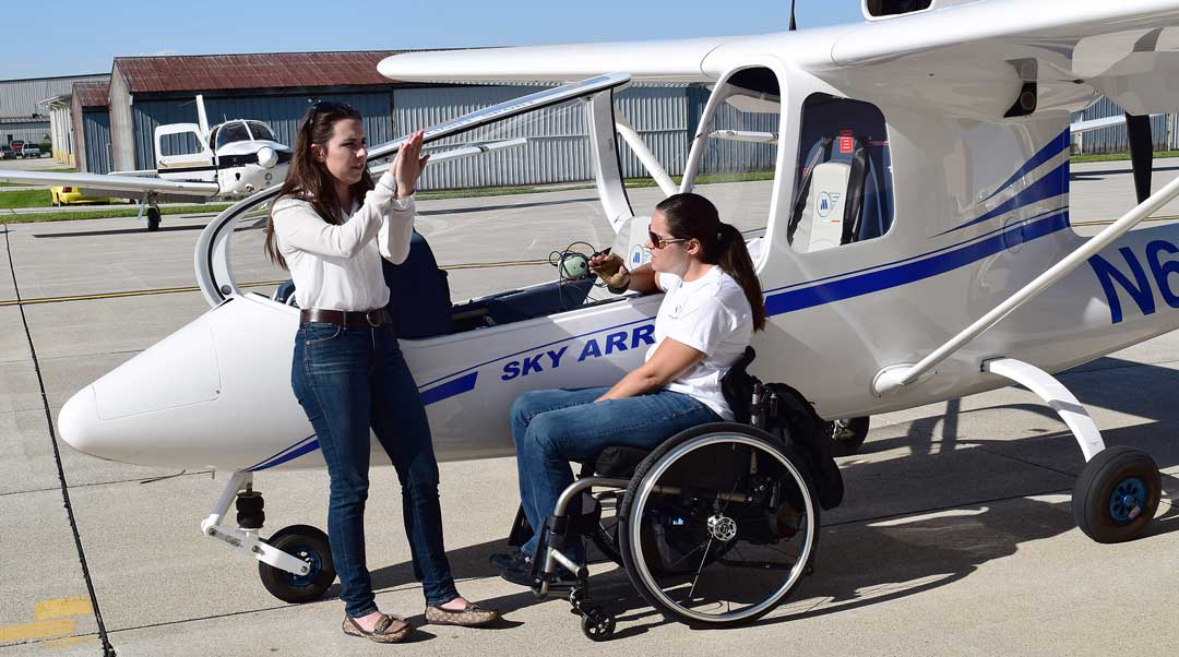 flight training persons with disabilities