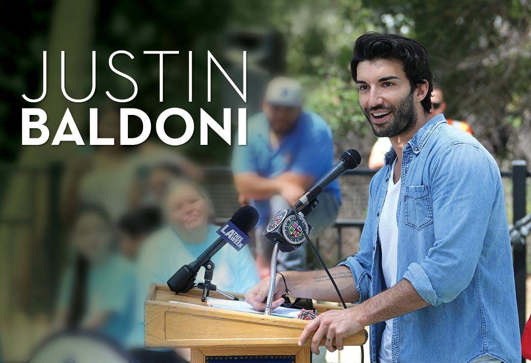 Justin Baldoni Speaking at Shane's Inspiration