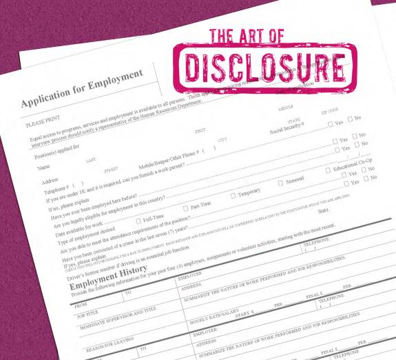 Title the Art of Disclosure Image of Employment Appliction