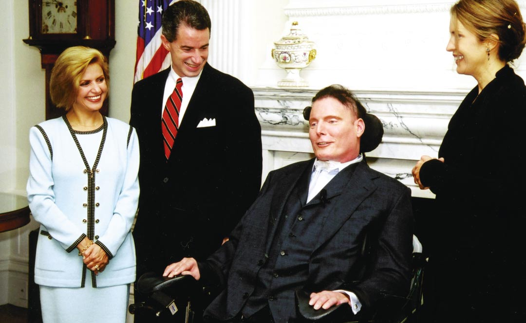 Christopher Reeve and NJ Governor