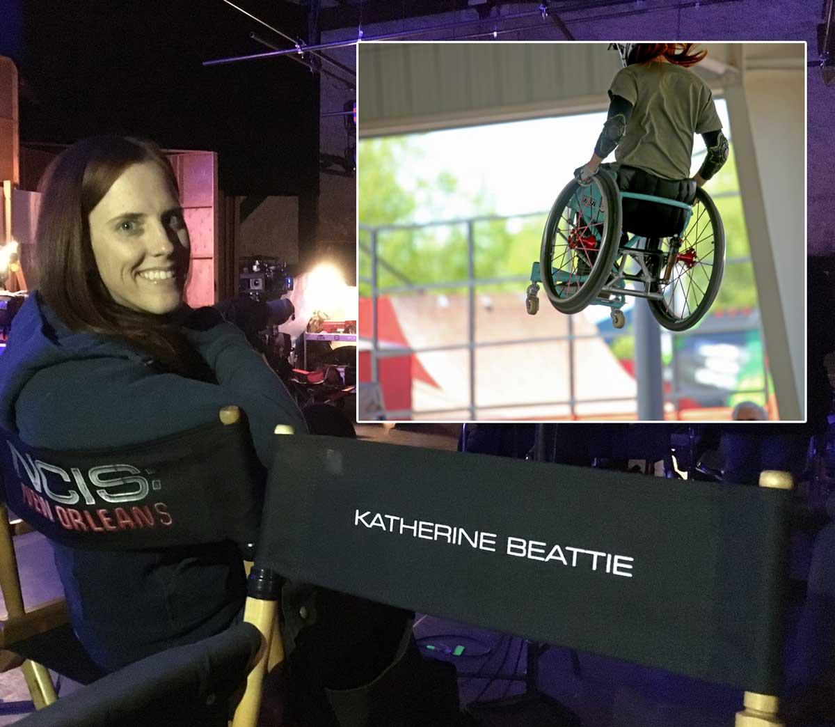 Katherine Beattie NCIS writer and wheelchair mx-er