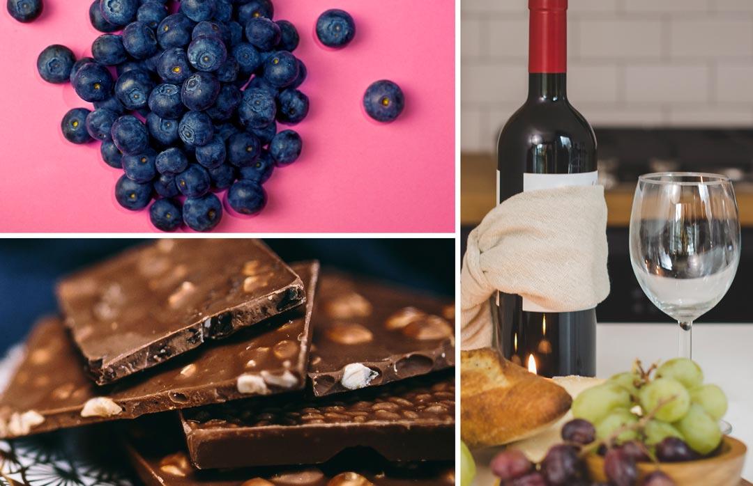 wine and chocolate help depression