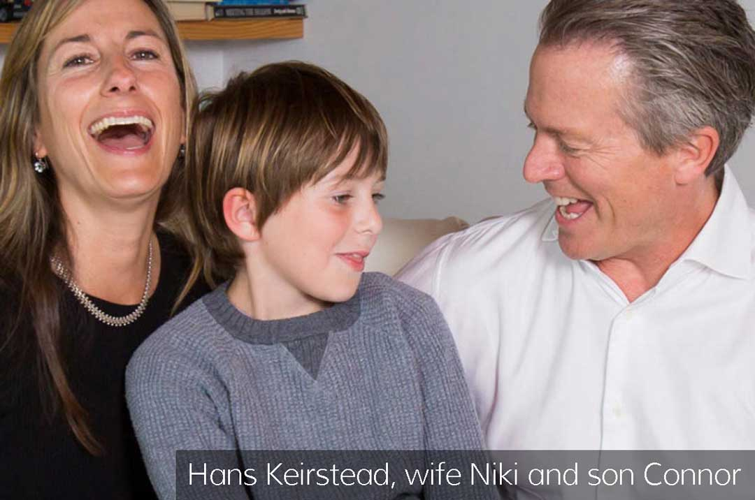Hans Keirstead, wife Niki and son Connor