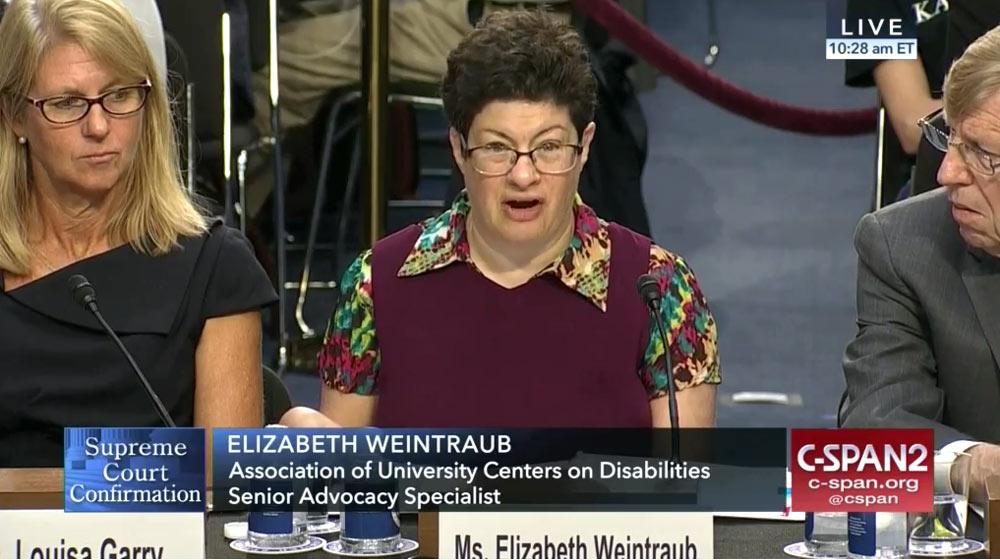 Elizabeth Weintraub - Kavanaugh hearings CSPAN2