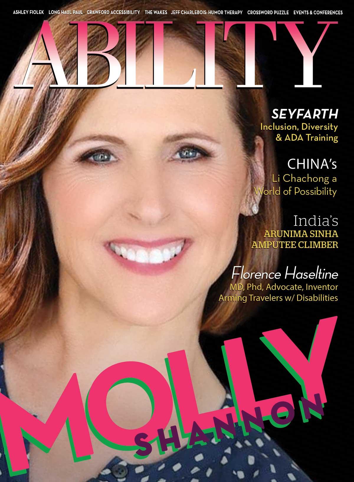 ABILITY Magazine Molly Shannon Cover