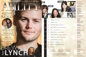 ABILITY Magazine Drew Lynch Issue — Images of Betty White, Marie Osmond, and Fran Dresher