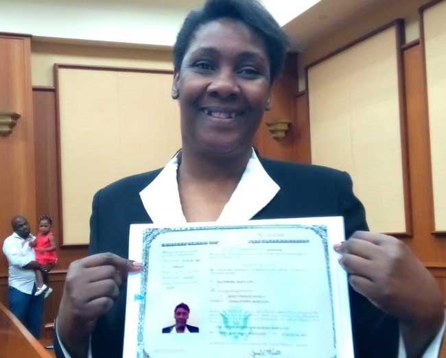 Kidny Nicolas citizenship certificate