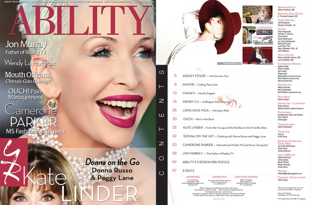ABILITY Magazine Parker Linder Issue