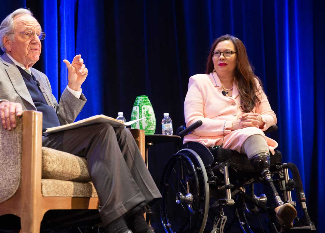 Tammy Duckworth speaking with Tom Harkin