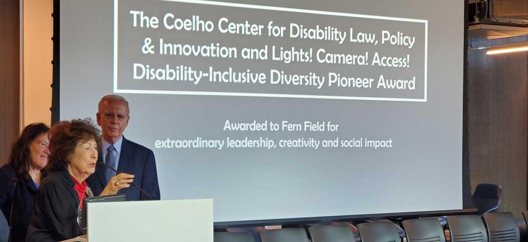 Fern Field, Tony Coelho and Tari Hartman Squire