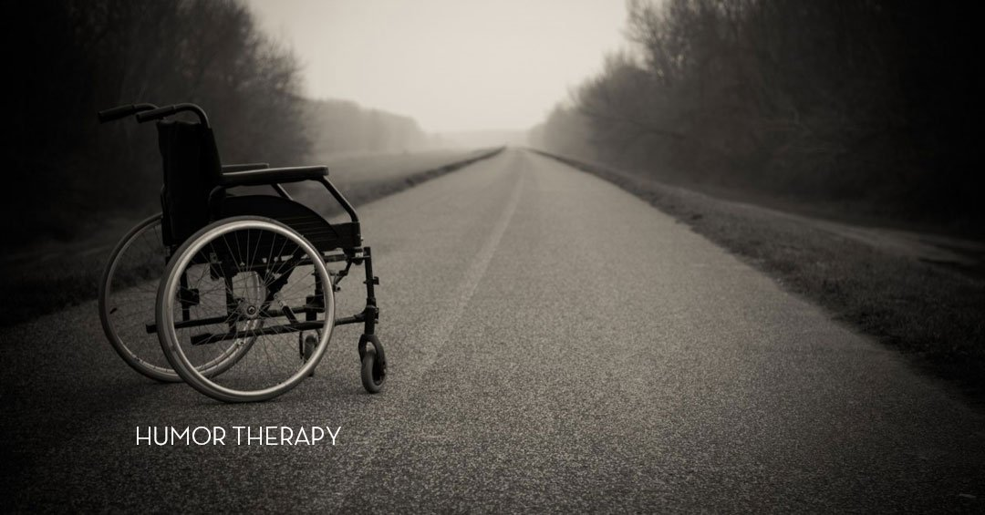 wheelchair in the road