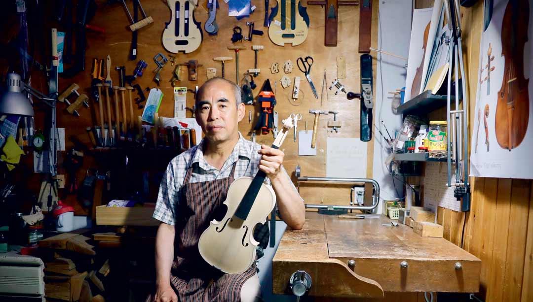 China Deaf Violin Craftsman Xian Baokang