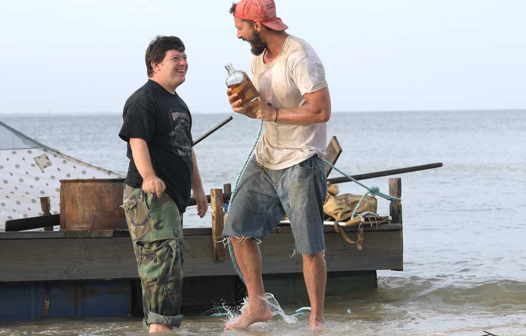 Zack Gottsagen and Shia LaBeouf in THE PEANUT BUTTER FALCON photo by Seth Johnson, Courtesy Roadside Attractions & Armory Films