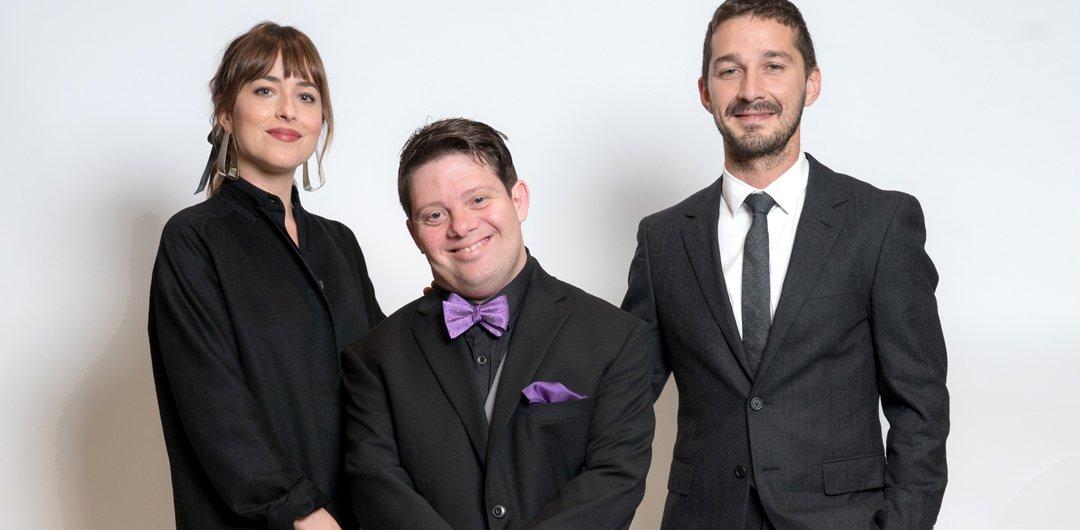 Dakota Johnson, Zack Gottsagen and Shia LaBeouf