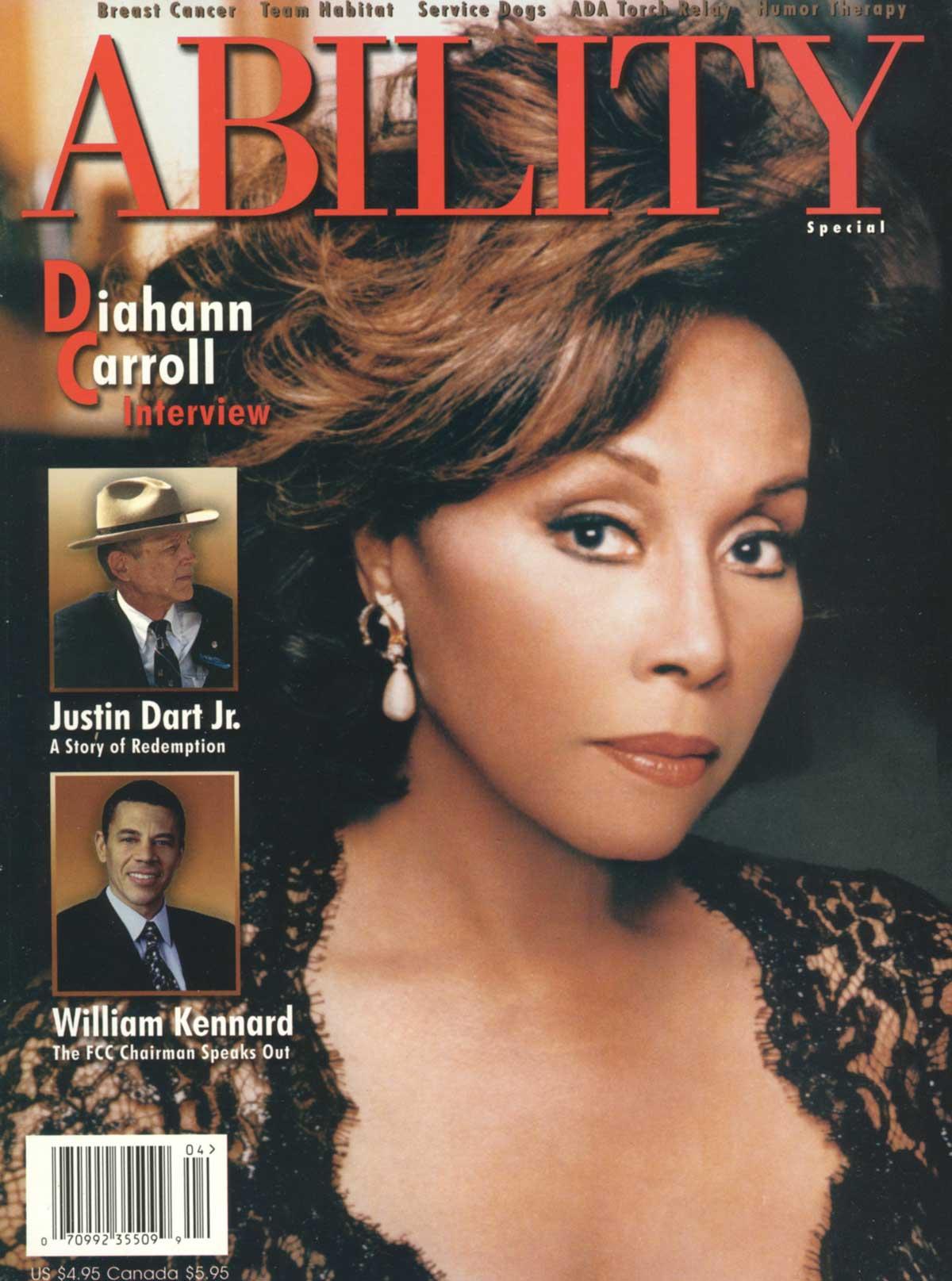 Diahann Carroll ABILITY Magazine Cover
