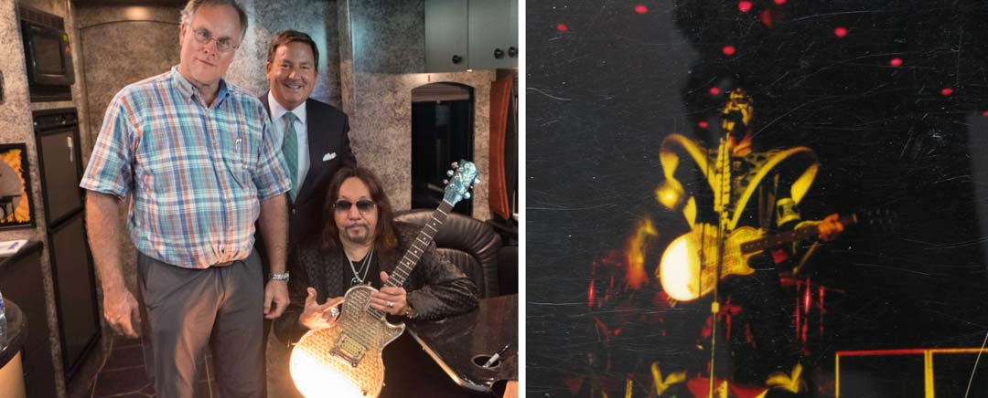 John Robison and Kiss lead guitarist Ace Frehley