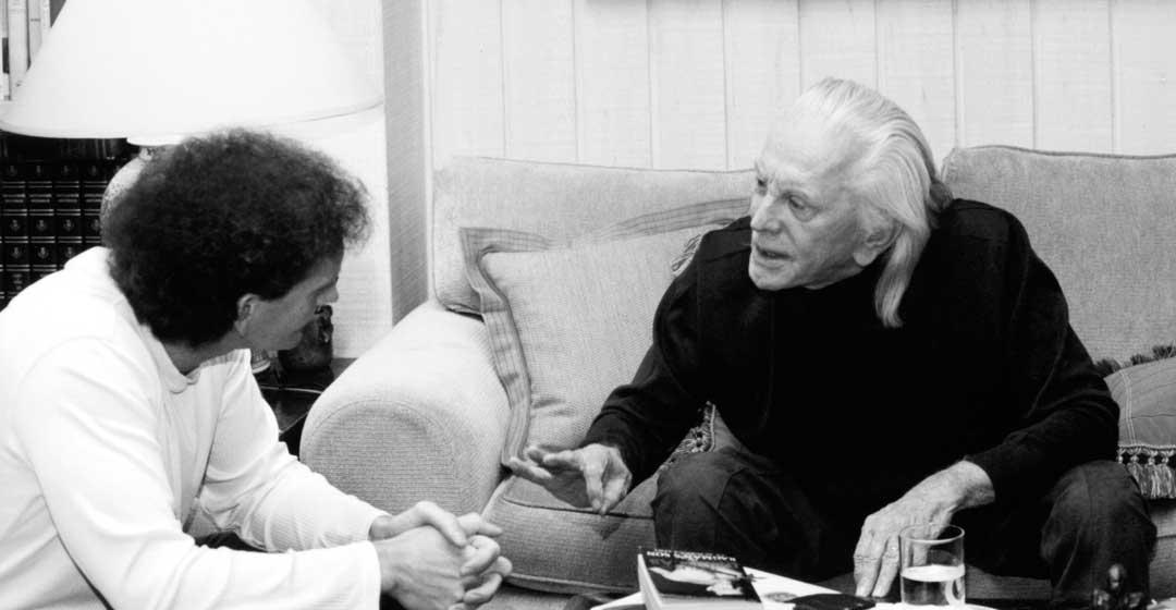 Chet Cooper and Kirk Douglas