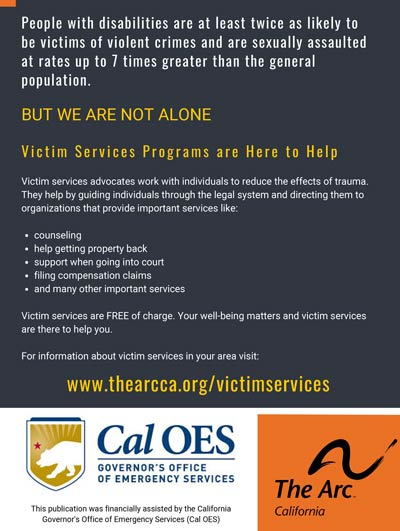 The Arc of California victim services project.