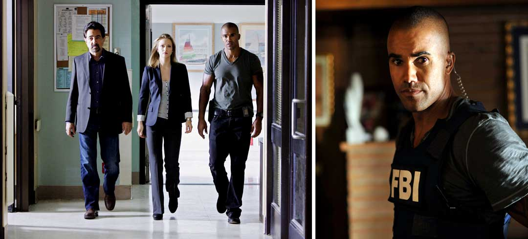 Joe Mantegna, AJ Cook and Shemar Moore