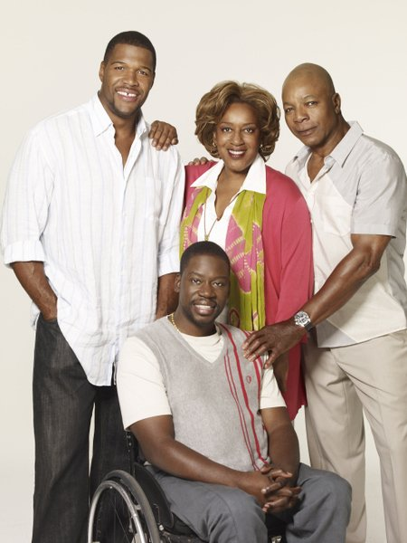 BROTHERS: Pictured L-R:  Michael Strahan, Daryl Chill Mitchell, CCH Pounder and Carl Weathers