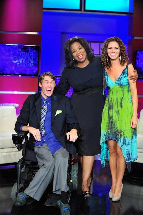 Zach Anner, Oprah Winfrey, Kristina Kuzmic-Crocco