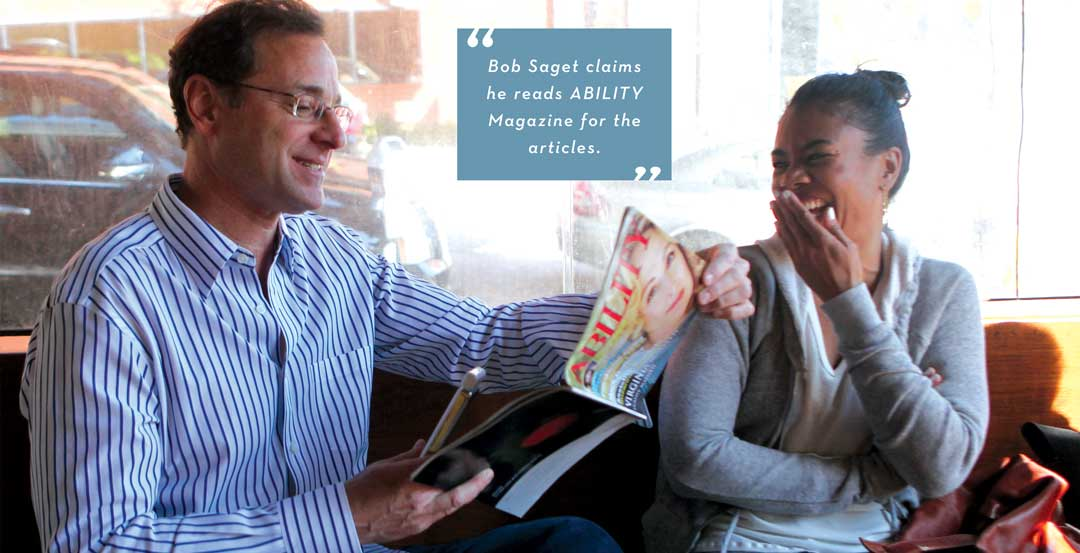 Bob Saget and Regina Hall — Saget claims he reads ABILITY Magazine for the articles