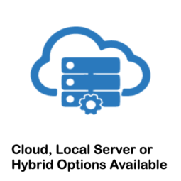 Cloud Icon, Cloud, Local Server or Hybrid Options