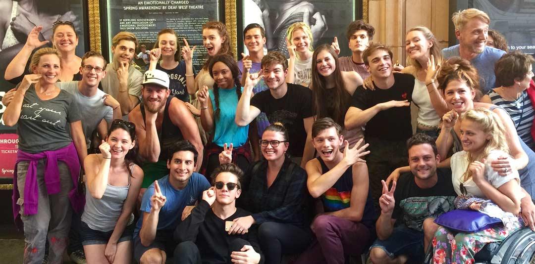 "Camryn Manheim and the cast of ""Spring Awakening"""