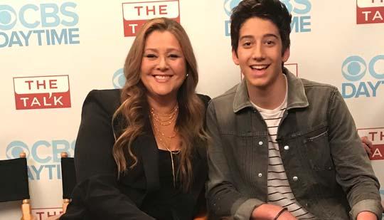 Camryn Manheim and son Milo