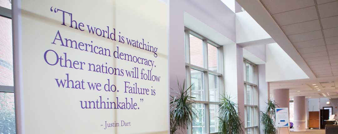 Justin Dart quote in the DC ODEP office