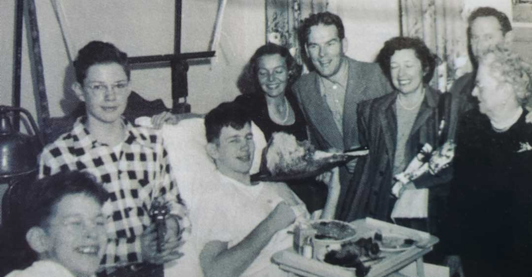 Justin Dart recovered from polio in 1948