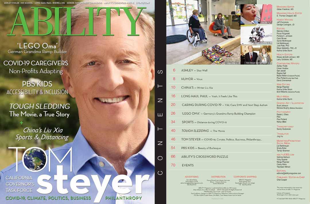 Tom Steyer Issue of ABILITY Magazine