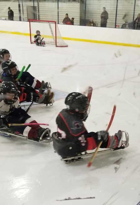Max Blake playing Sled Hockey for the Carolina Hurricanes