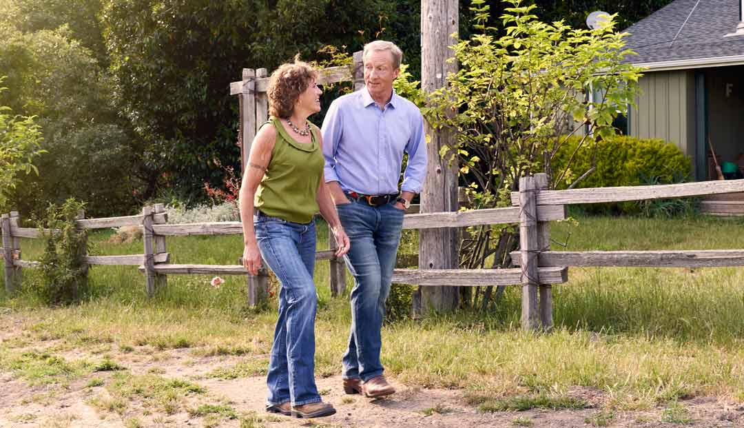 Tom Steyer and Kat Taylor on the TomKat ranch