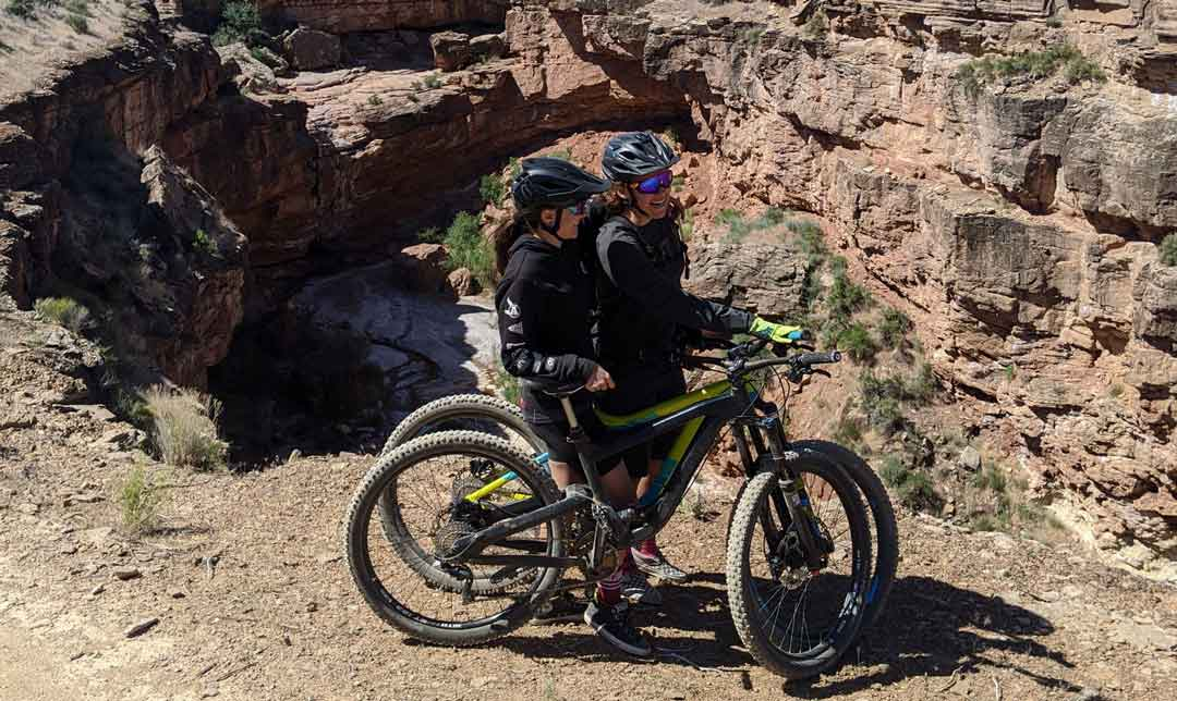 Ashley Fiolek biking