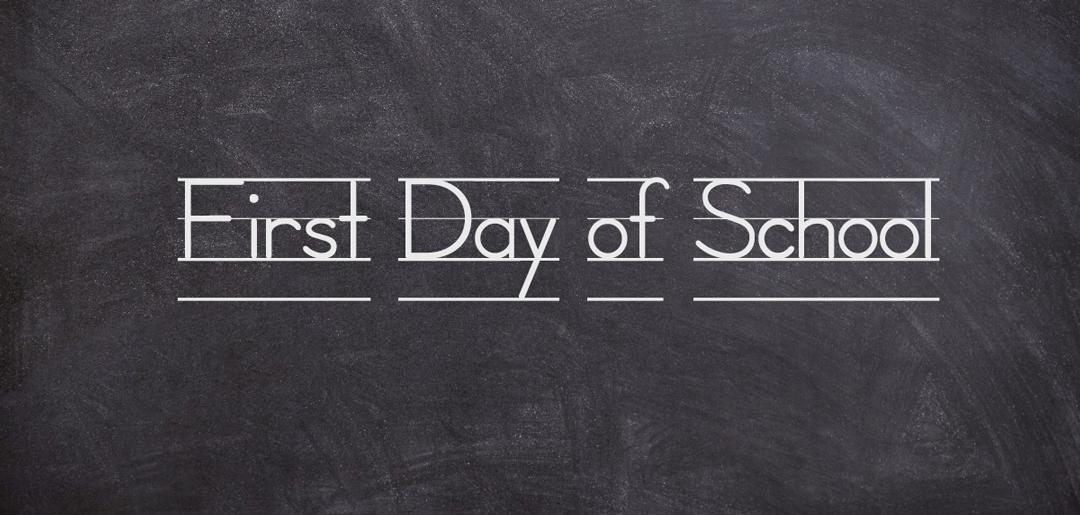 chalk board, first day of school