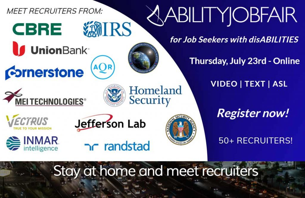 online ABILITY job fair for disabled