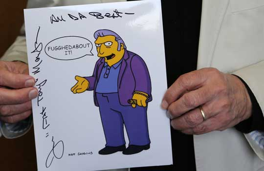 Joe Mantegna signed picture of Fat Tony of the Simpsons