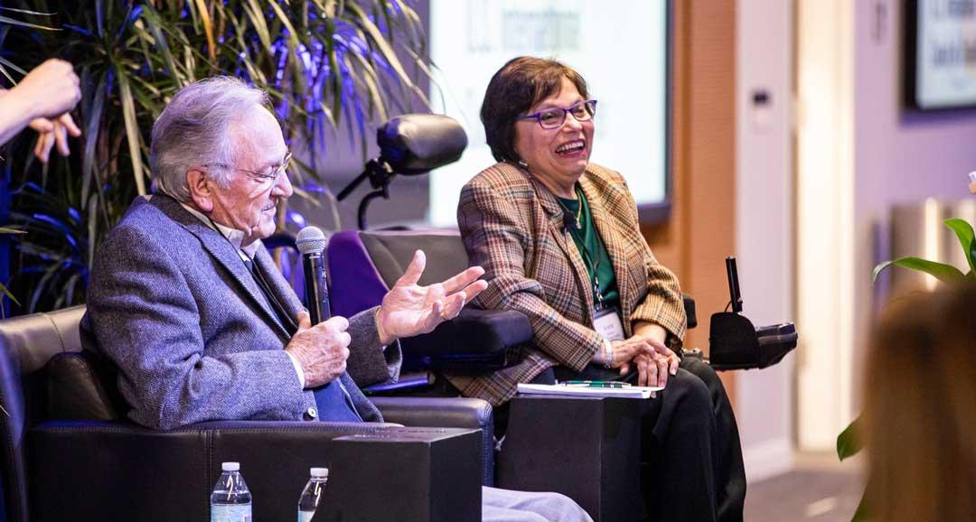 Judy Heumann with Senator Tom Harkin