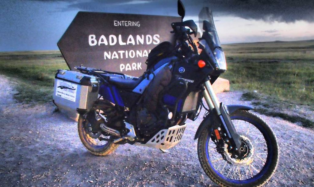 Badass Long Haul Paul's Yamaha in the Badlands