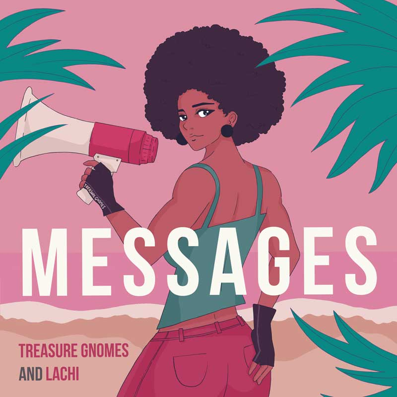 Messages Singe Cover Art — Treasures Gnomes and Lachi