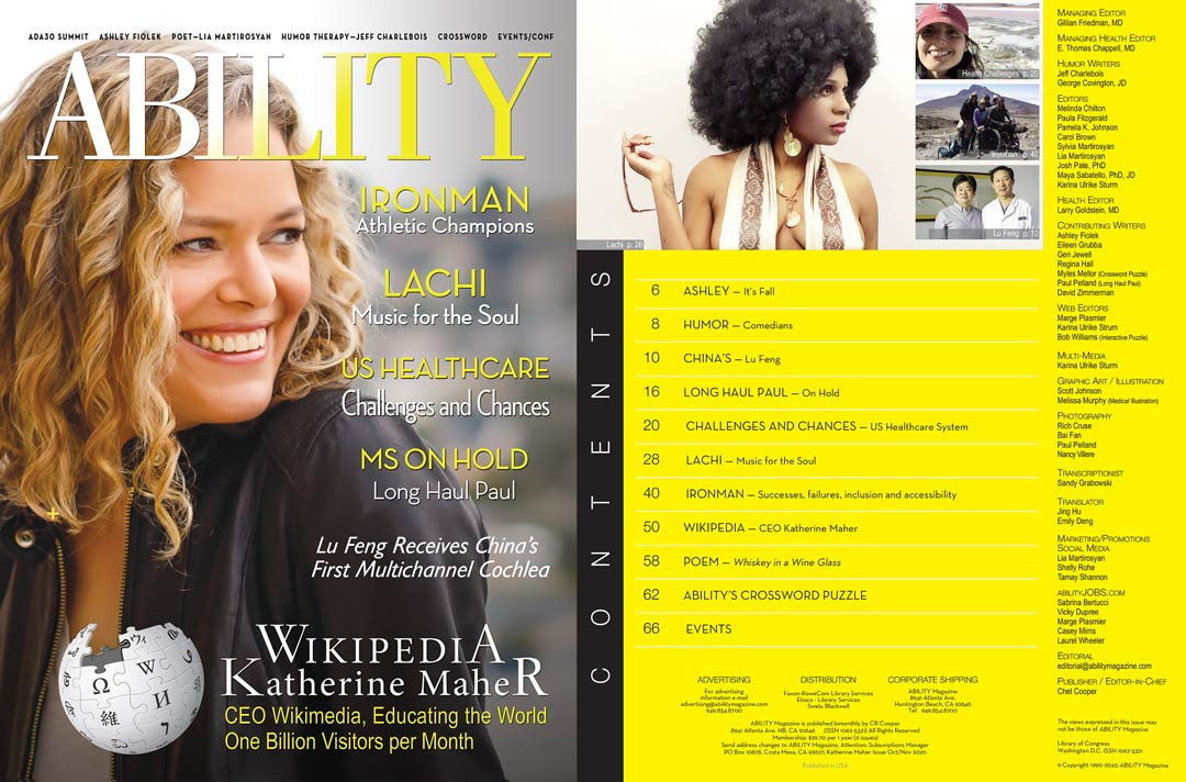 ABILITY Magazine Cover Katherine Maher Wikimedia and content with Lachi image